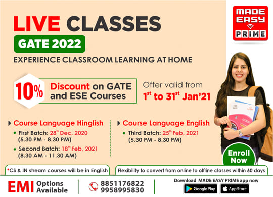Live Classes GATE 2022 – Experience Classroom Learning At Home